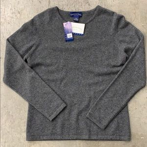 Cashmere Sweater Petite m gray NWT